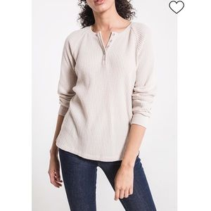 Z Supply Waffle Thermal Henley Tunic